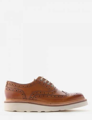 Emily Women's Micro-Wedge Brogue Shoe Tan
