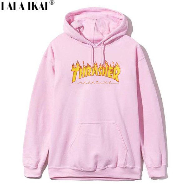 Sweater: thrasher, thrasher, pink, light pink, hoodie - Wheretoget