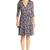 Irina Silk Combo Wrap Dress