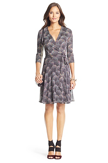 Irina silk combo wrap dress