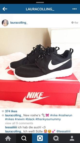 shoes black nike nike black