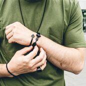 jewels,akitsune,cuff bracelet,arm bracelet,bracelets,matte black,Arm Cuff,accessories,anchor