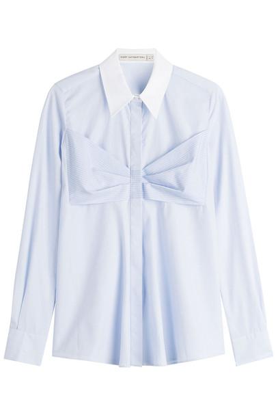 Mary Katrantzou Cotton Shirt with Bow
