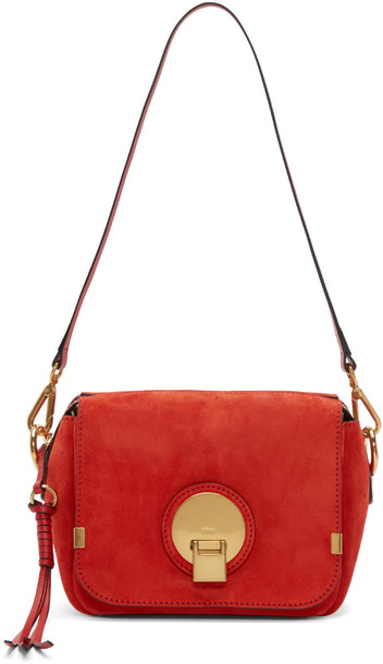 bag suede red