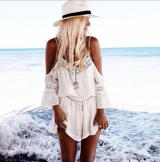 jumpsuit love boho hippie summer beach