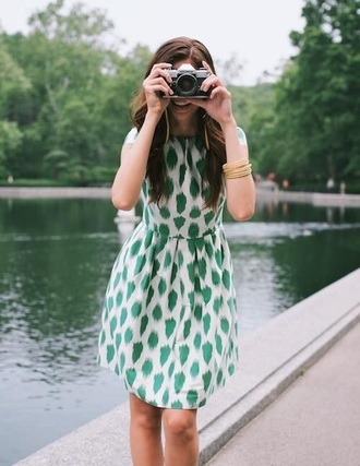 dress print prep preppy printed dress preppy dress green green and white outfit