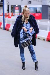ohh couture,blogger,blouse,coat,jeans,shoes,bag,sunglasses,jewels,bvlgari serpenti bag,bulgari serpenti bag