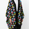 Missoni - geometric pattern cape - women - nylon/rayon/wool - one size, black, nylon/rayon/wool
