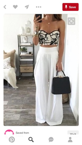 pants wide-leg pants white white pants pinterest bustier corset