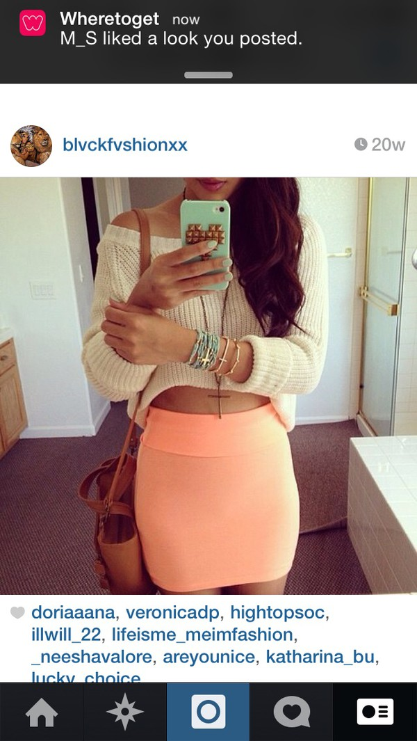 skirt sweater cropped sweater