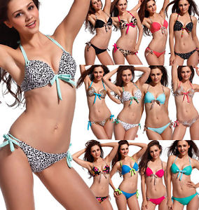 2pcs Hot Sexy Women Bikini Set Push Up Padded Top Swimsuit Bathing Suit Swimwear | eBay