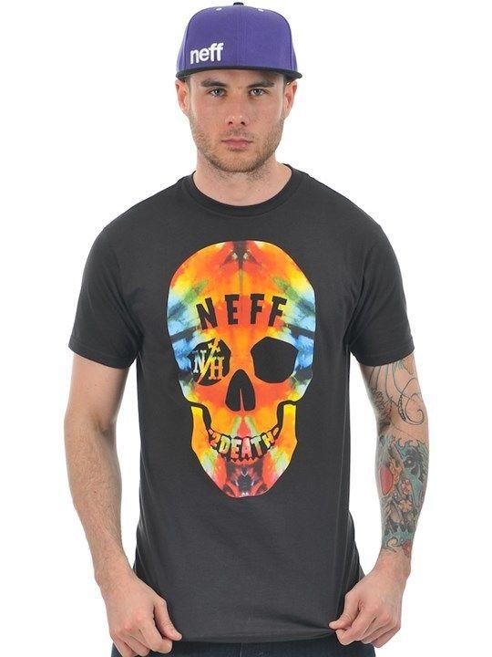 T shirt neff tie dye death noir
