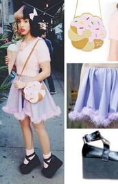 skirt,melanie martinez,kawaii,pastel,bag,top