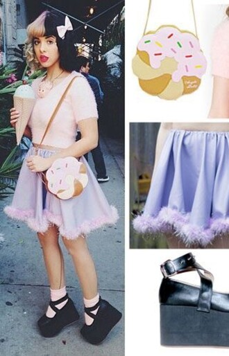 skirt melanie martinez kawaii pastel bag top