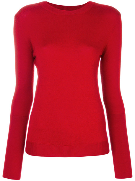 jumper women spandex wool red sweater
