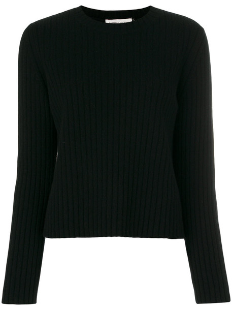 Lamberto Losani - round neck jumper - women - Silk/Cashmere/Wool - 44, Black, Silk/Cashmere/Wool
