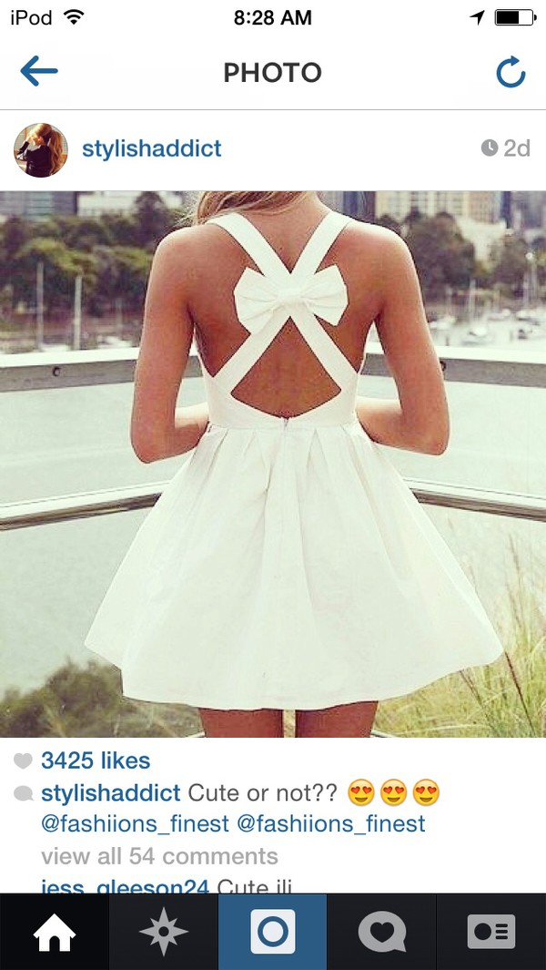 white bow back dress cross cross back the cutest dress ever