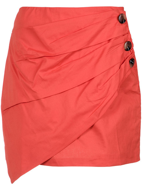 Lilly Sarti skirt draped skirt women spandex draped cotton