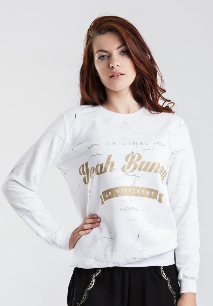 Bluza Marmurowa złoty print - Yeah Bunny