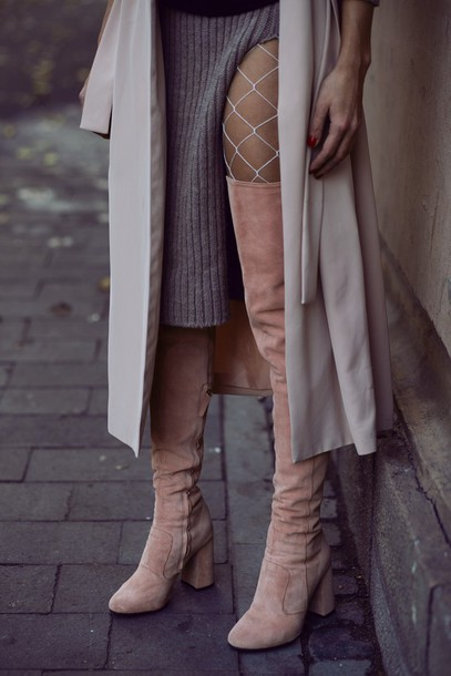 d5b8dbfe15b shoes tumblr boots over the knee boots over the knee thigh high boots tight  net tights