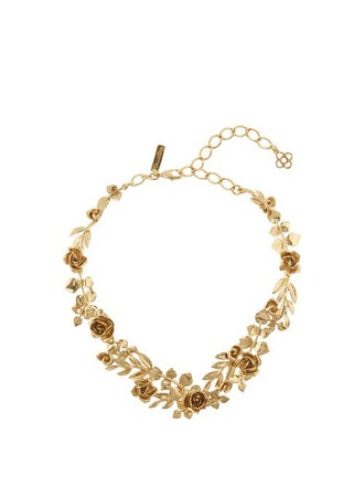 rose necklace gold jewels