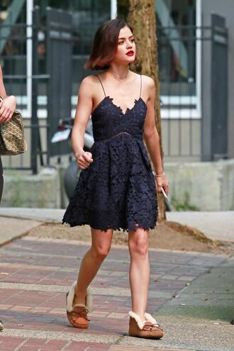 shoes dress lace dress lace lucy hale navy