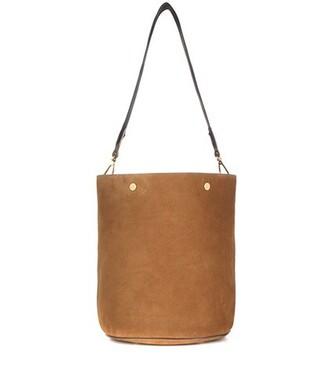 bag bucket bag suede brown