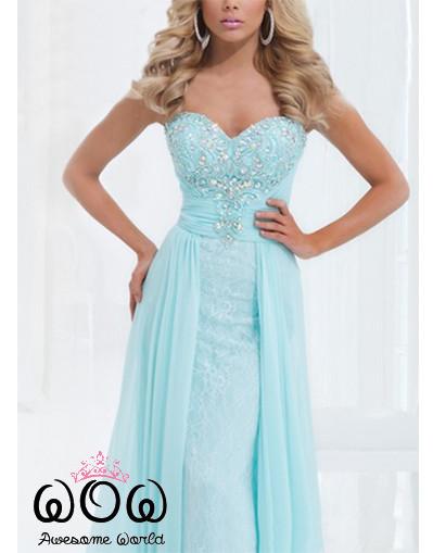 Princess baby blue dress