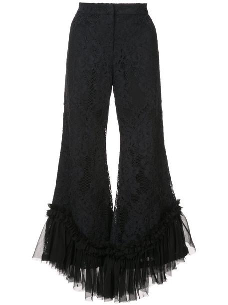 Alexis women spandex cotton black silk pants