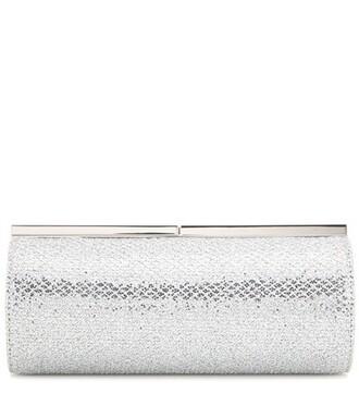 embellished clutch silver bag