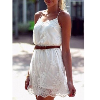 dress lace lace dress white white dress disheefashion
