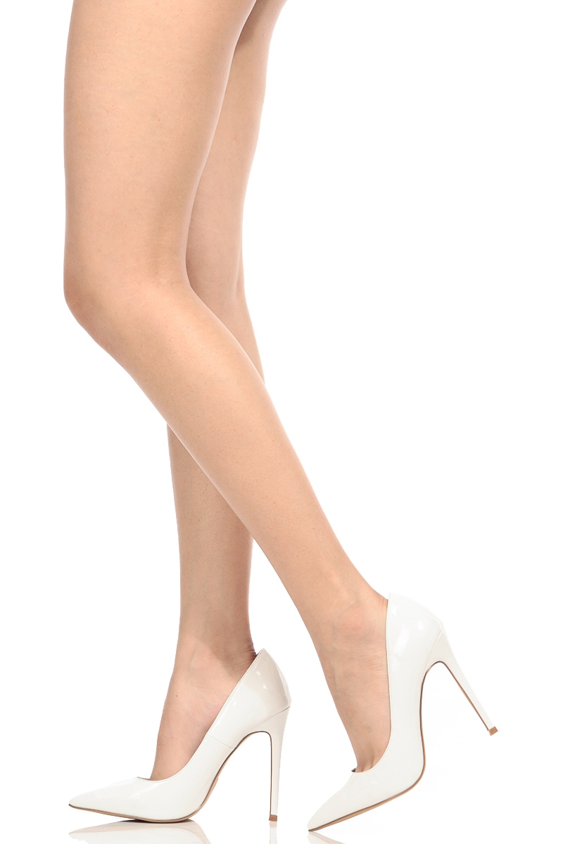 Pointy Toe White Faux Classic PumpsCicihot Leather Patent Heel PikuTwOZX