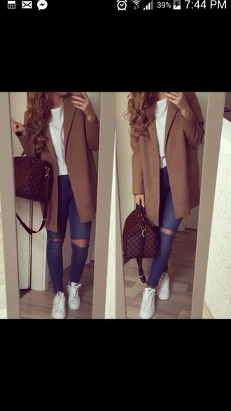 coat marron long cold trench coat