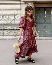 dress,leopard print dress,pink leopard,maxi dress,shoes