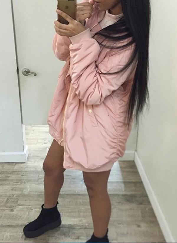 Coat Girly Pink Dusty Pink Bomber Jacket Jacket