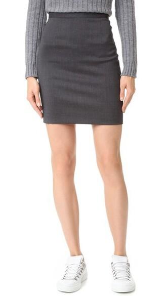 skirt grey
