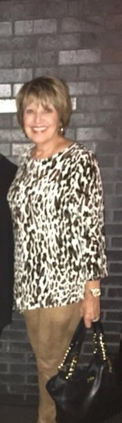 blouse brown cream tunic