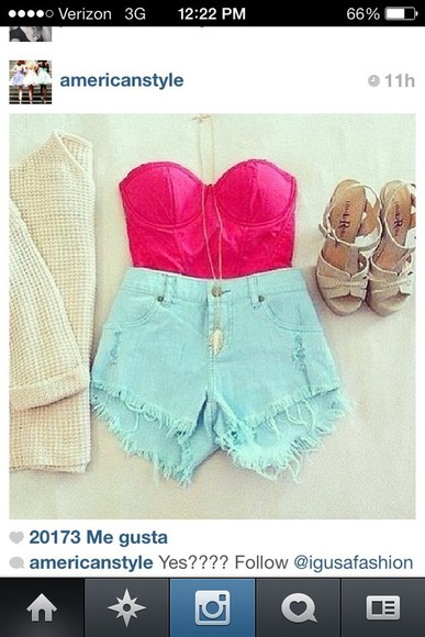 shorts high waisted short shoes shirt