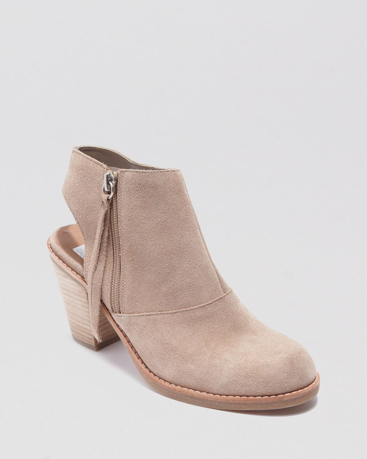 DV Dolce Vita Booties - Jentry Open High Heel | Bloomingdale's