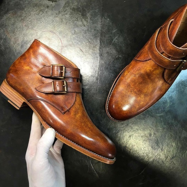 shoes tan tan leather boots monk strap monk strap boots brown leather boots mens shoes