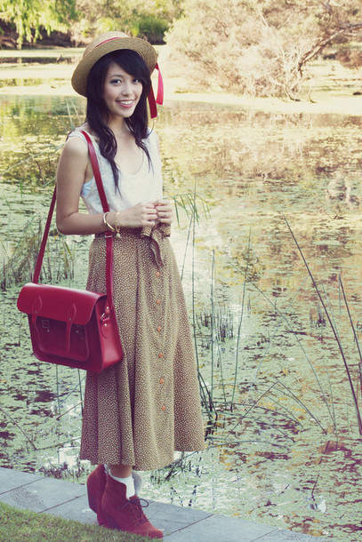 kani brogue shoes red bag satchel bag bag