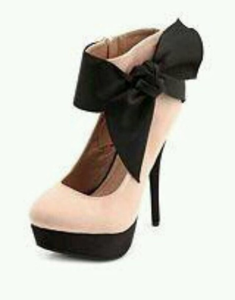 shoes pink heels with strap and bow