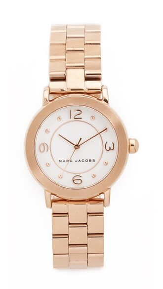 rose gold rose new classic watch gold white jewels