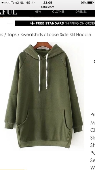 sweater green hoodie casual fall outfits long sleeves zaful