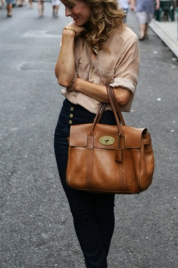 bag brown gold sachel bag