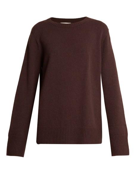 The Row sweater wool dark brown