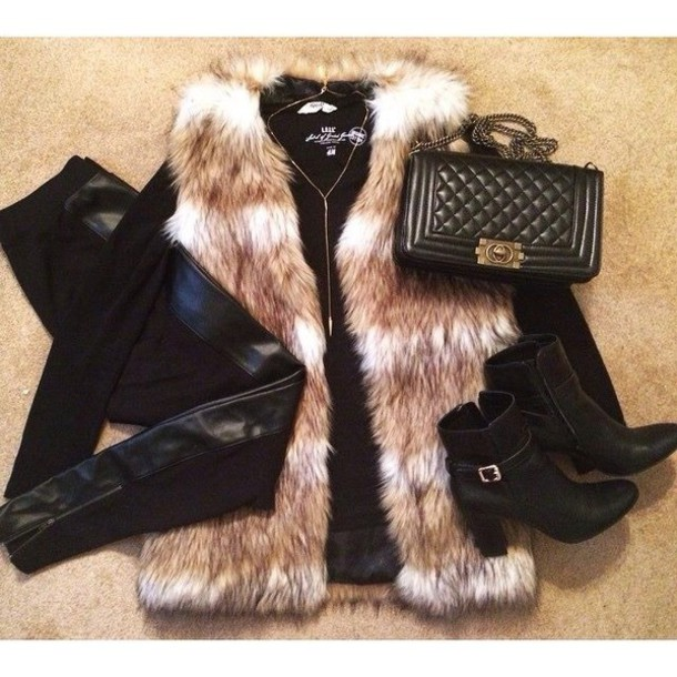 bag black leather coat shoes pants