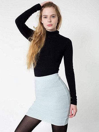 f26705474 Zig-Zag Sweater Knit Pencil Skirt | American Apparel