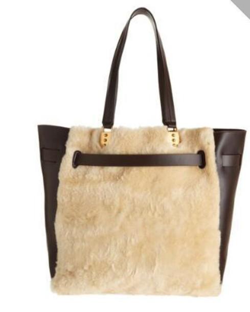 bag fur pocketbook leather bag