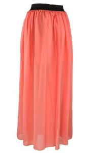 s watermelon chiffon pleated